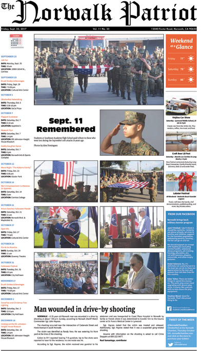 VOL 11, NO 33, SEPTEMBER 22, 2017