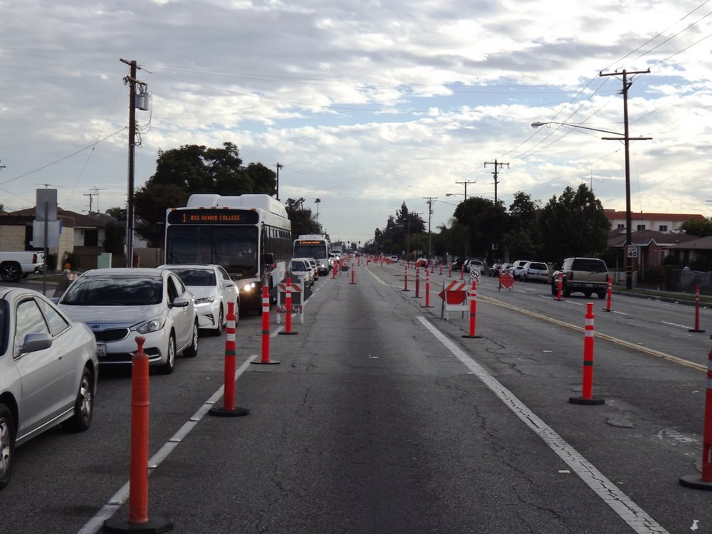 Pioneer Boulevard will be reduced to a single lane for at least a month. Photo by Raul Samaniego