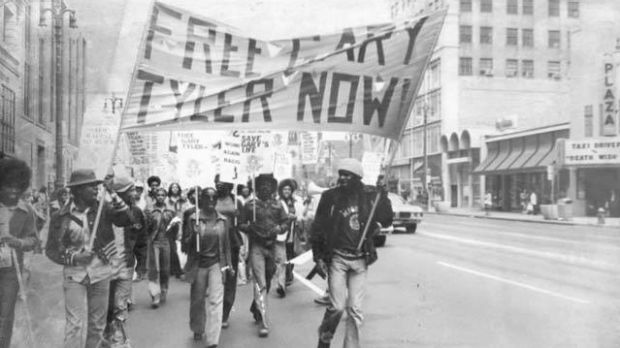 A civil rights march in support of Gary Tyler in 1976. Courtesy FreeGaryTyler.com