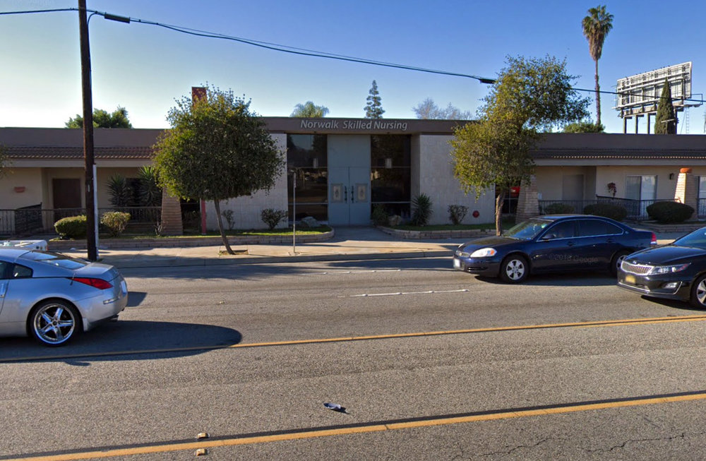 Norwalk Skilled Nursing is one of 15 California nursing homes sued for alleged understaffing. Google photo