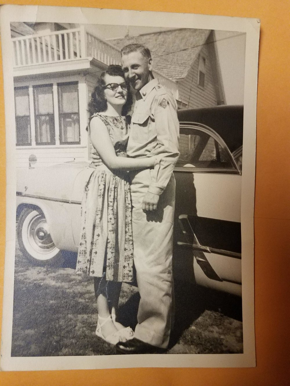 A young Marilyn Haught and her husband in the 1950's.  Family photos used with permission.