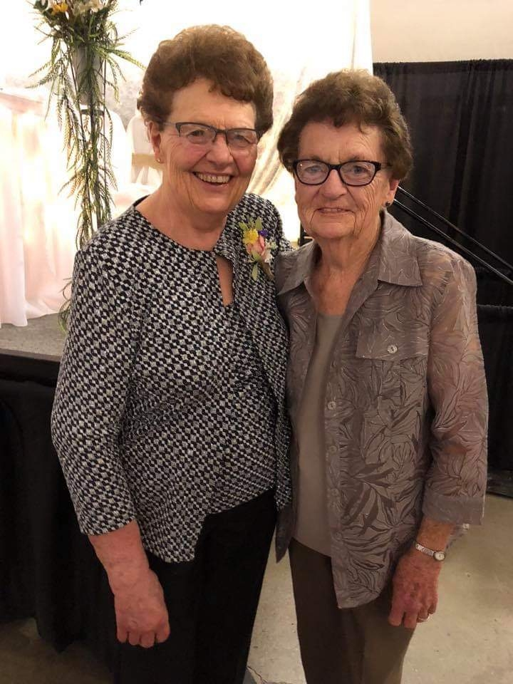 Marilyn Haught, right, and her sister Janice.