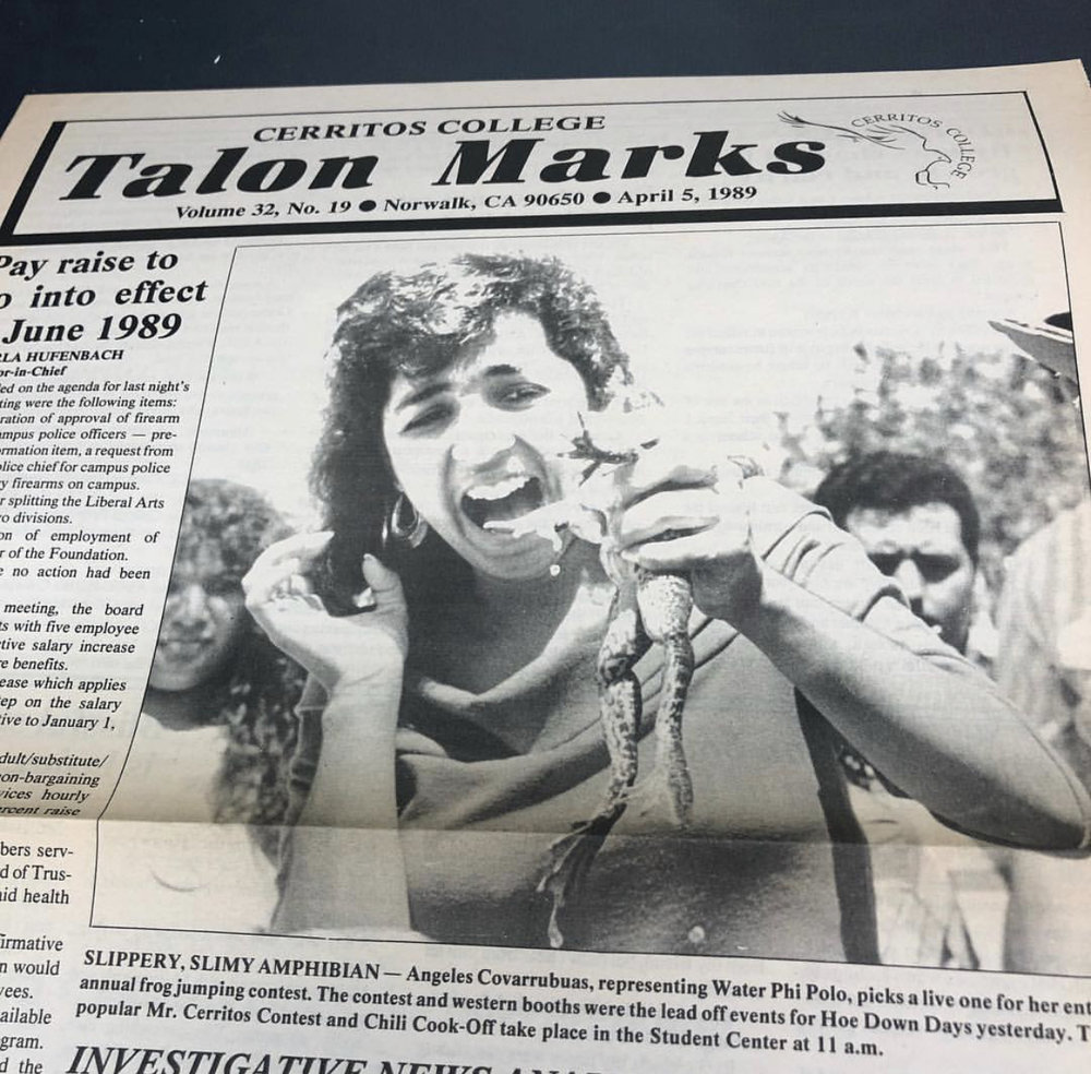 A Talon Marks newspaper from 1989. The newspaper's entire archive is now available online. Courtesy photo