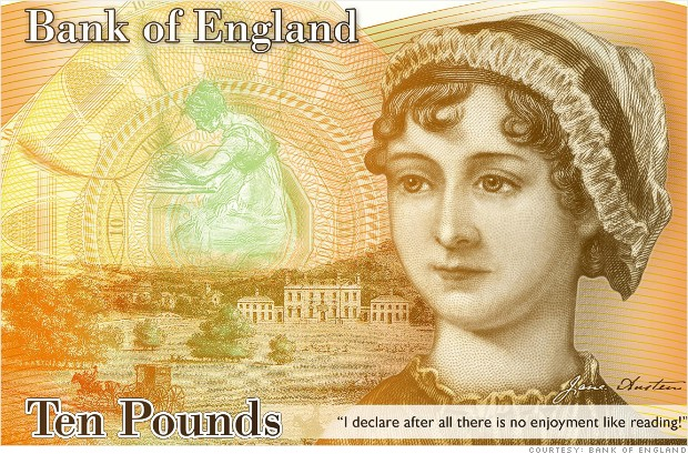 What do you think of Austen appearing on the ten-pound banknote in 2017?