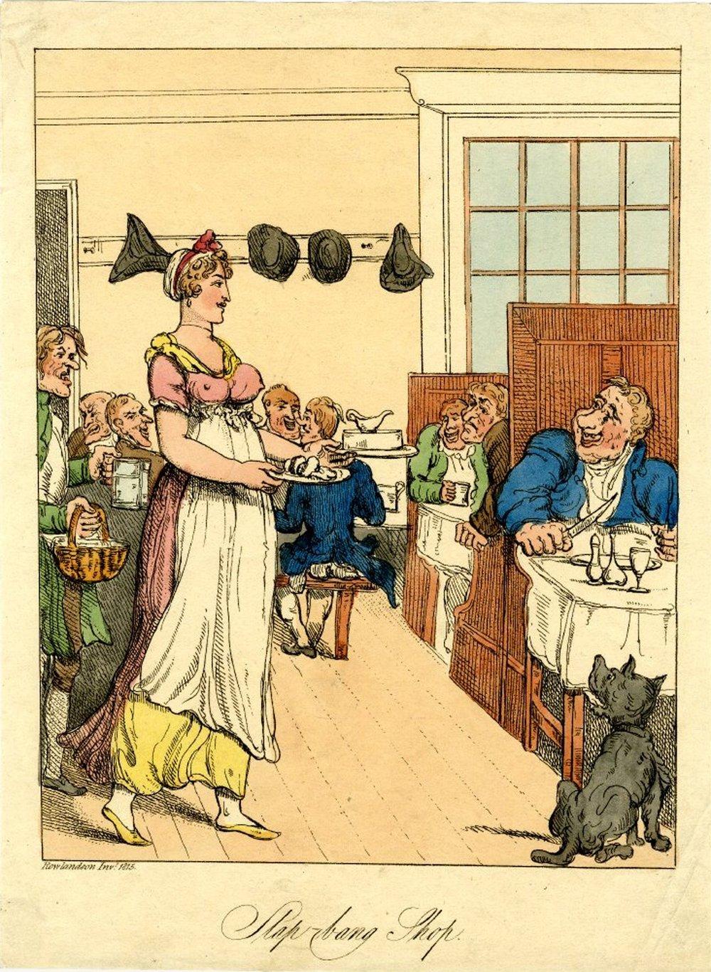 The Slap-Bang Shop, Rowlandson (1815)