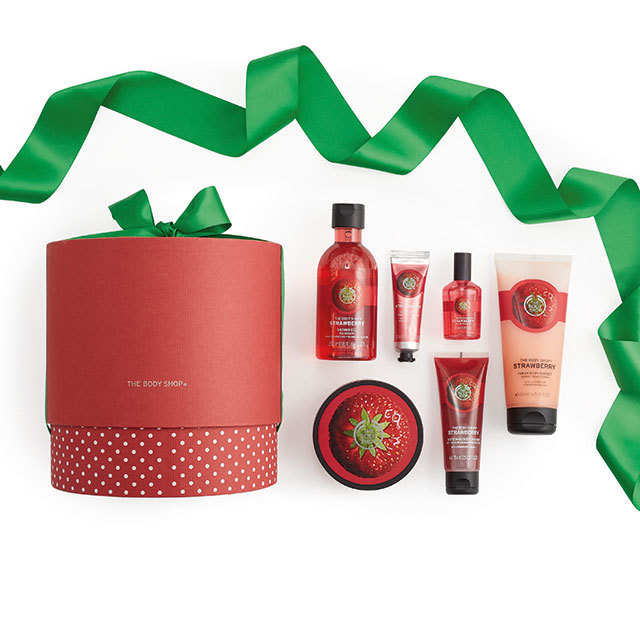 Strawberry anything from the Body shop