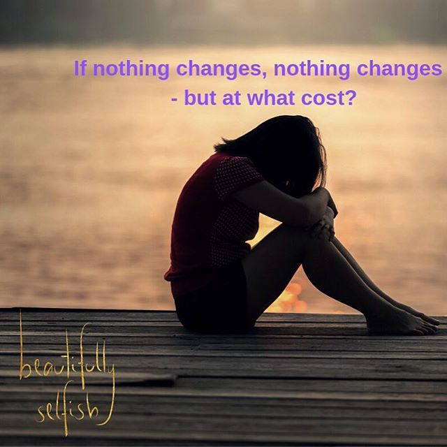There are two types of people in this world; the people that let things happen TO them and the people that make change happen FOR them. Which one are you? www.beautifullyselfish.com