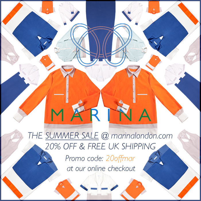 Summer SALE at MARINA London - 20% off