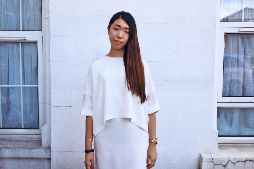 Louisa Lau wearing MARINA London Leila top