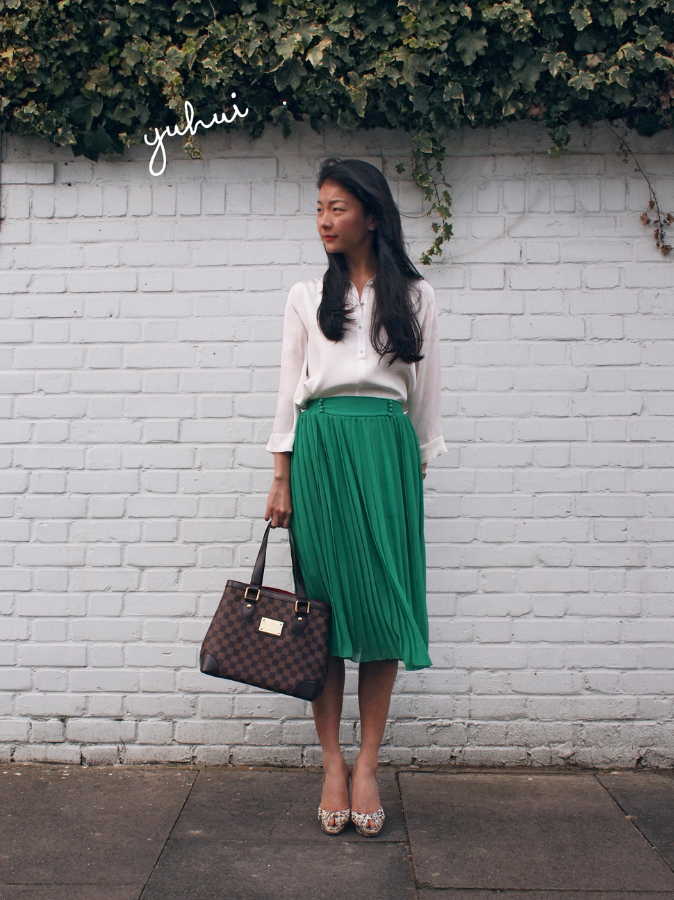 Yuhui wearing Marina London