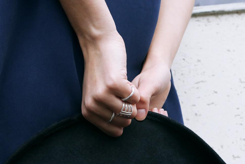 Berta Bernad wearing MARINA London Hanneli dress