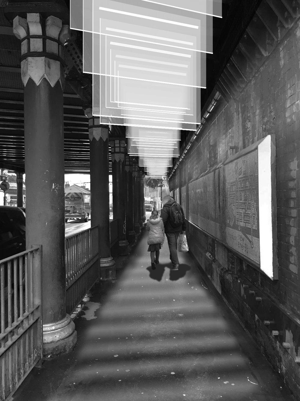 MOCT STUDIO_Portland bridge_Light Arch_view inside