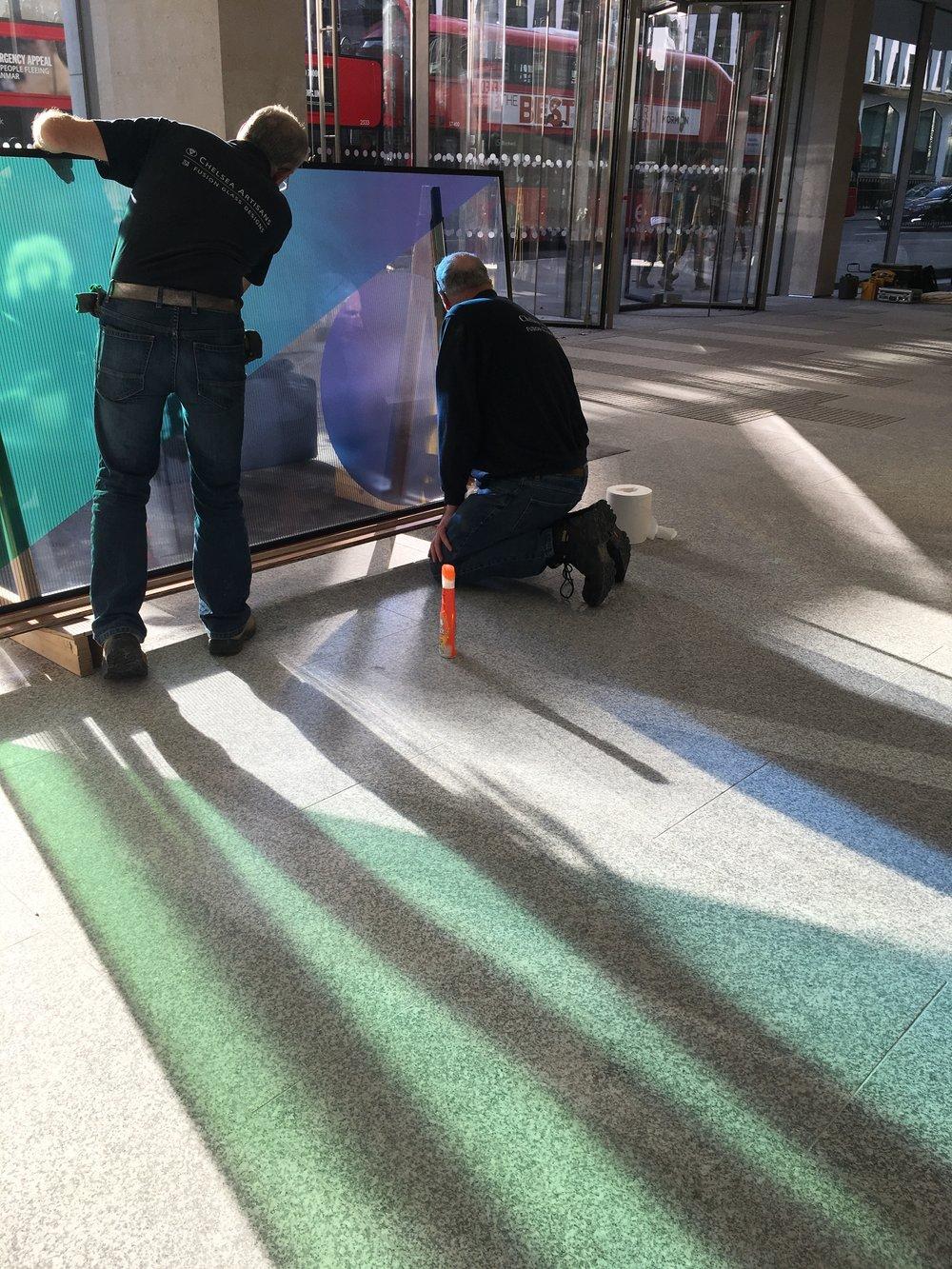 Cannon street reception installation