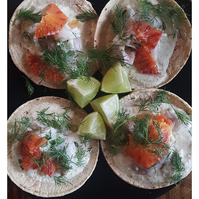 IT IS ST PATRICK'S DAY ☘️☘️☘️☘️☘️☘️☘️☘️☘️☘️☘️☘️ THE GUINNESS IS FLOWING, THE RUGBY IS ON AND WE HAVE A ST PADDYS DAY SPECIAL! HANDPRESSED TACOS WITH FATSOS SAUCE, BASS CHEVICE, BLOOD ORANGE AND DILL 🍀🍀🍀🍀🍀🍀🍀🍀🍀🍀🍀🍀🍀🍀🍀🍀 #stpatricksday #hoxton #howlatthemoon #fatsoskitchen #fatsostacos #foodporn #craftbeer #london #pub