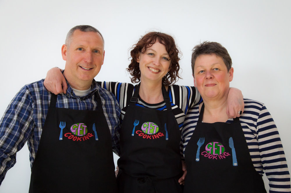 Emily Carey (centre) Get Cooking, Leeds
