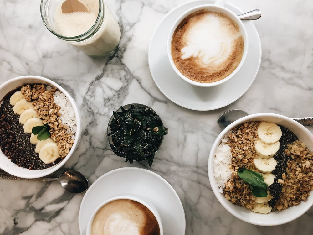 Superfood & Organic Liquids - located in Mitte // make sure to try the mango smoothie bowl - it's amazing and the marble tables are prefect for some pretty flatlay shots