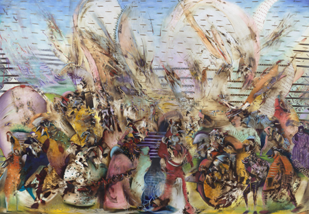 Ali Banisadr, Foreign Lands, 2015 from 'My Abstract World' exhibition, Courtesy of the artist