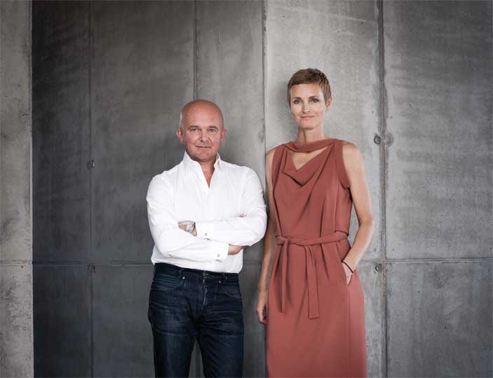 Christian and Karen Boros. Photography by Wolfgang Stahr. Courtesy of the Boros Collection.