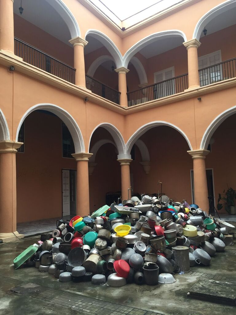 Subodh Gupta'Fuente' in the group show 'Follia Continua' at Centro Wilfredo Lam