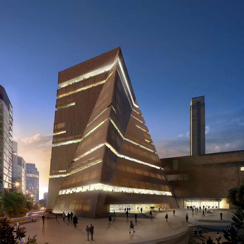 New Building of Tate Modern, which will be opened to the public in June 2016