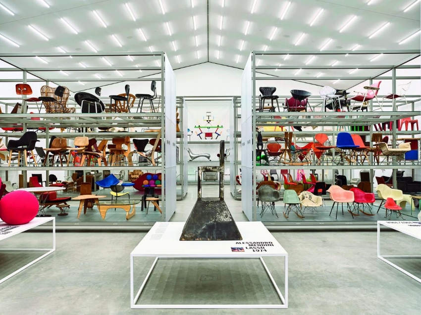 Inside Schaudepot, Basel's Vitra Design Museum (image courtesy of Archilovers)