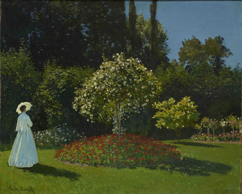 Jeanne-Marguerite Lecadre (Lady in a Garden) by Claude Monet, 1867 Photo © The State Hermitage Museum.