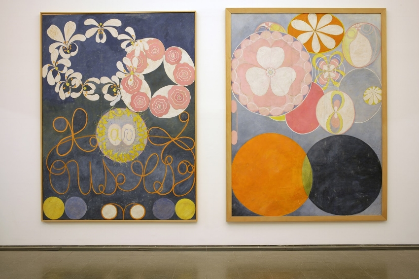 Hilma af Klint: Painting the Unseen Installation view Serpentine Gallery, London Image © Jerry Hardman-Jones