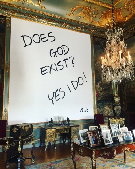 'Does God Exist, Yes I Do!' (1978-2016) © Michaelangelo Pistoletto