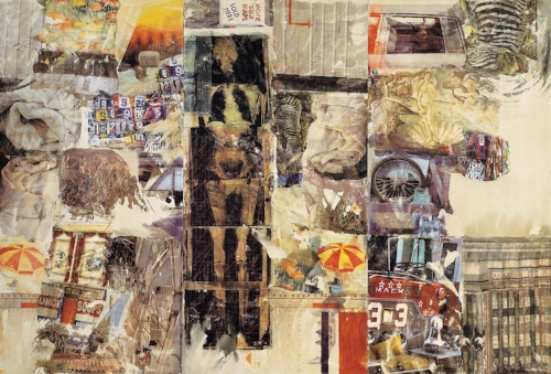 MIRTHDAY MAN [ANAGRAM (A PUN)], 1997, Collection Faurschou Foundation, © 2017 Robert Rauschenberg Foundation.