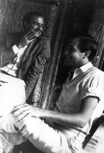 Cy Twombly and Rauschenberg, Rome, 1961 Photo: Mario Schifano, © 2013 Artists Rights Society (ARS), New York/SIAE, Rome