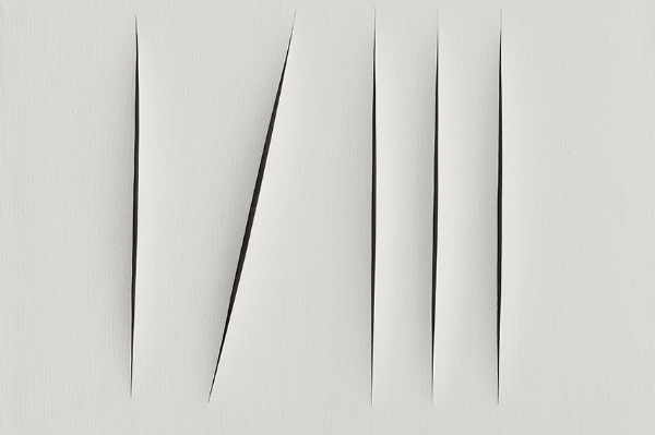 Lucio Fontana – Spatial Concept; Expectations (detail), 1967 Image Courtesy: of the artist state