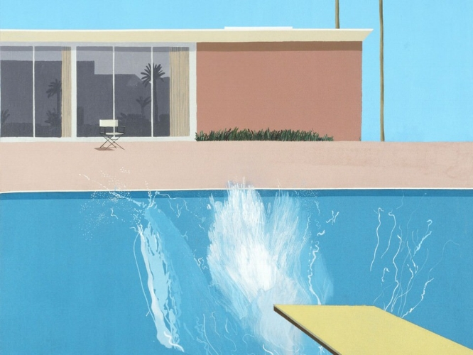 David Hockney, A Bigger Splash, 1967. Image courtesy of the artist