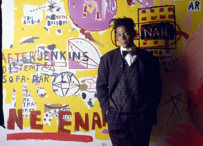Jean-Michel Basquiat in 1988 (Credit: Julio Donoso/Sygma/Corbis)