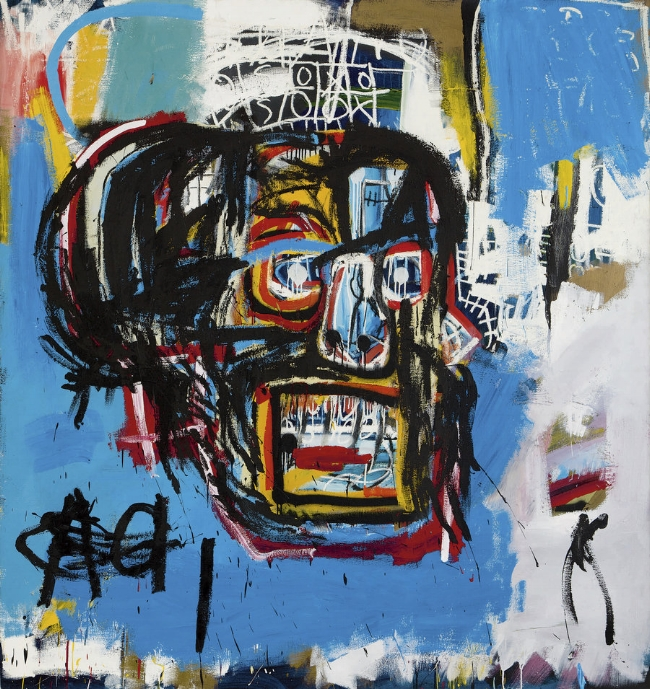 This 1982 artwork by Jean-Michel Basquiat was sold for a record $110.5 million at auction in New York in May 2017. It hadn't been shown in public since a private collector bought it for $19,000 in 1984.