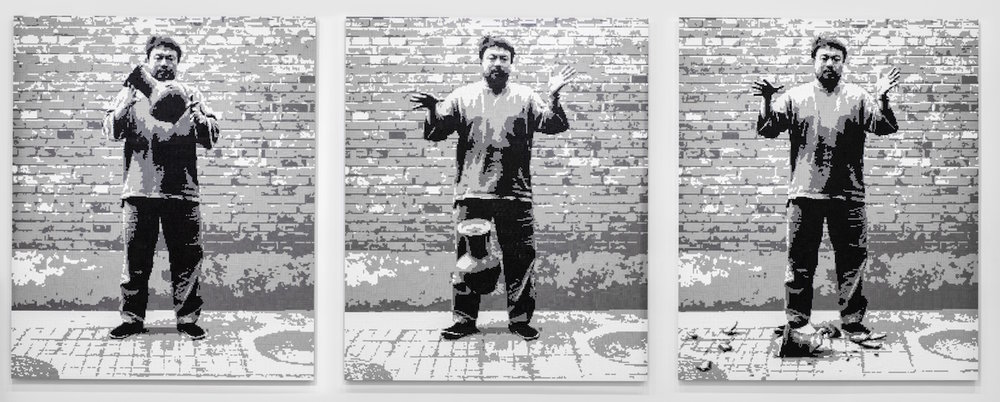 Ai Weiwei. Dropping a Han Dynasty Urn, 2016. LEGO bricks Courtesy: the artist and Ai Weiwei Studio
