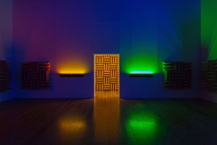 Haroon Mirza, 'A Chamber for Horwitz; Sonakinatography Transcriptions in Surround Sound' (2015)