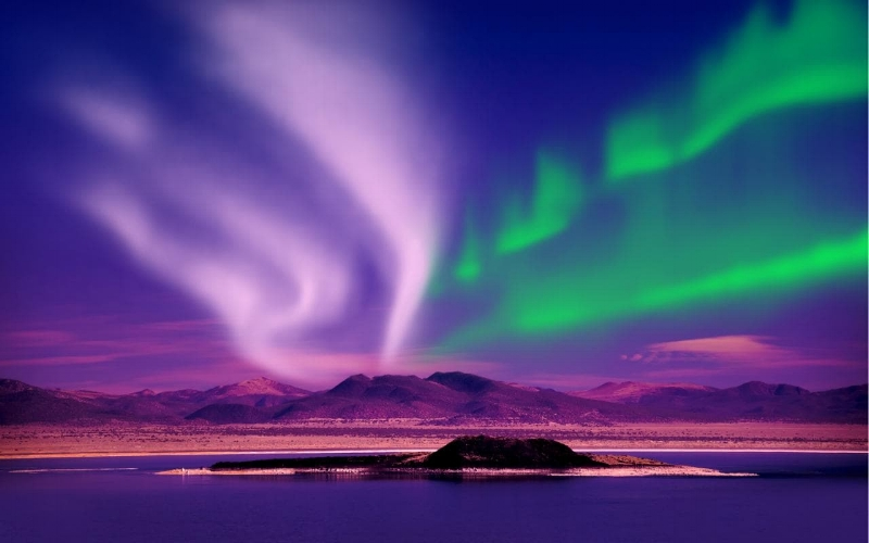 The strength of auroral activity runs in 11-year cycles Credit: AP