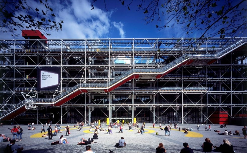 Centre Pompidou in Paris. Construction dates: 1971-1977, Image courtesy: Rogers Stirk Harbour + Partners