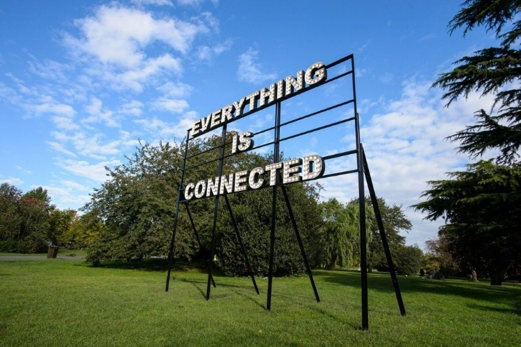 Peter Liversidge, ''Everything is Connected', Installation view, Frieze Art Fair 2012 (image courtesy ARTSY)