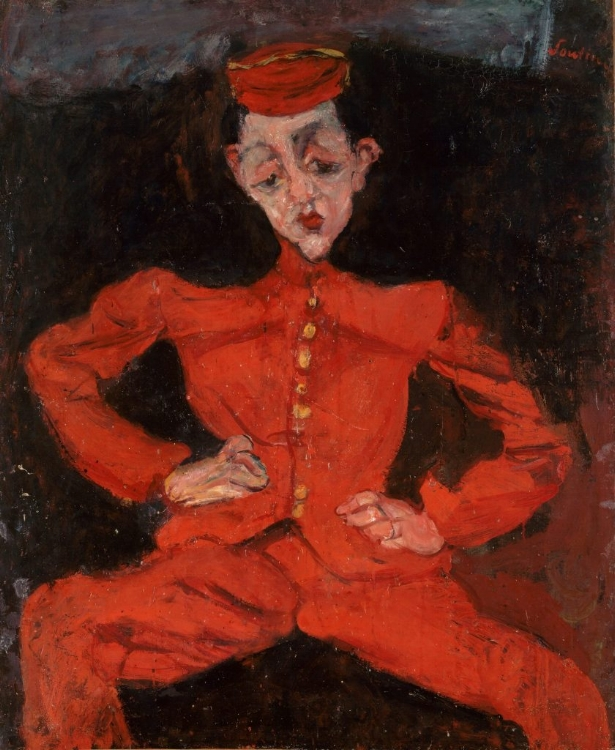 Chaim Soutine's 'Bellboy' c 1925 (©Courtauld Gallery, Centre Georges Pompidou)