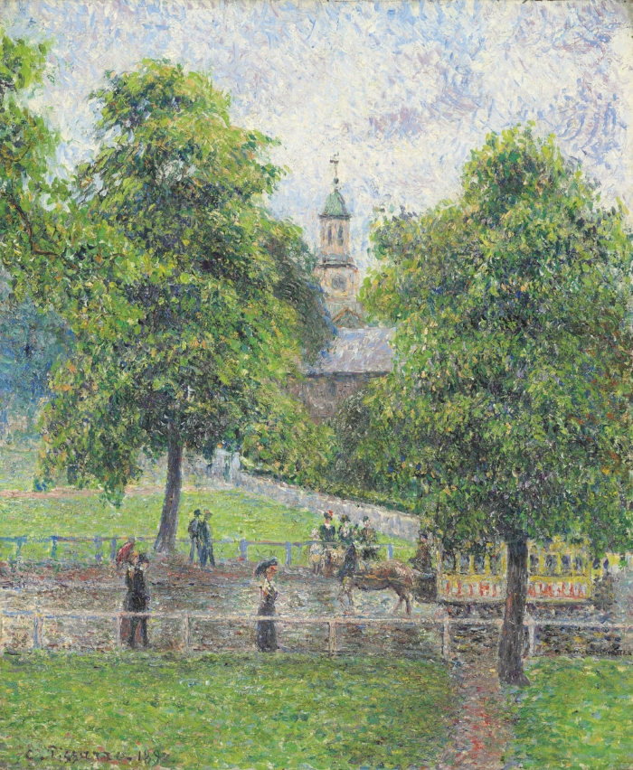 Pissarro's Saint Anne's Church A Kew, Londres, 1892 (private collection)
