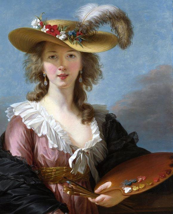 Elisabeth Louise Vigée Le Brun ,Self Portrait in a Straw Hat, after 1782