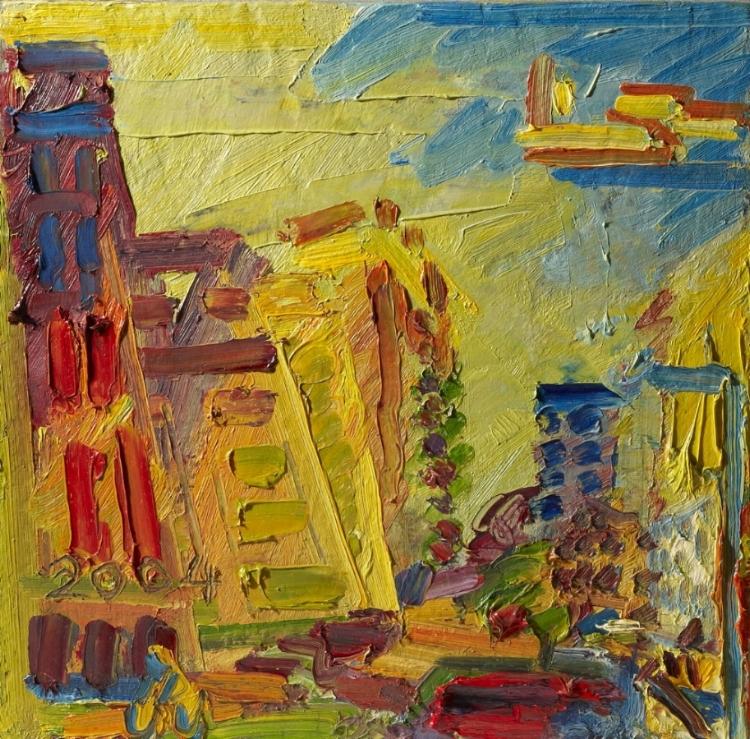 Frank Auerbach , Mornington Crescent, Summer Morning II, 2004 ©  Frank Auerbach, courtesy Marlborough Fine Art