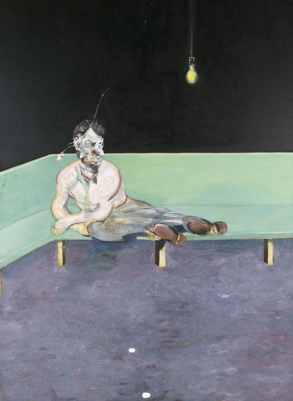 Francis Bacon,  Study for Portrait of Lucien Freud, 1964. Private Collection