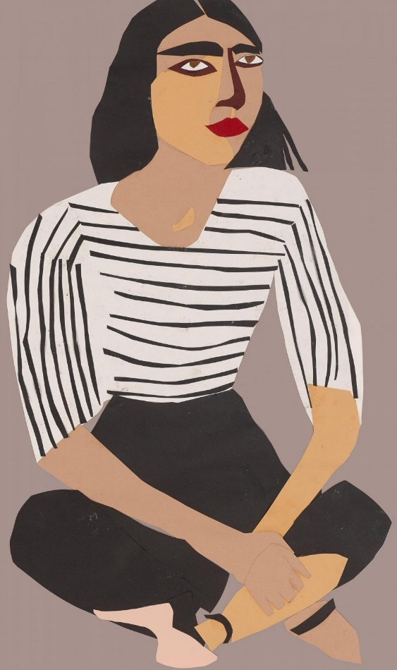 """A Sunday Afternoon"" in Whitechapel by Chantal Joffe  Courtesy the artist and Victoria Miro"