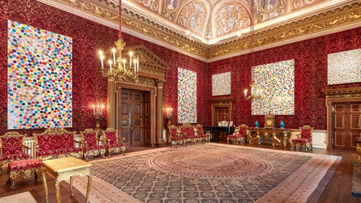 Paintings from Damien Hirst's new Colour Space series are displayed in the State Rooms at Houghton Hall near King's Lynn. Photo IMage: Pete Huggings/© DAMIEN HIRST AND SCIENCE LTD. ALL RIGHTS RESERVED, DACS 2018