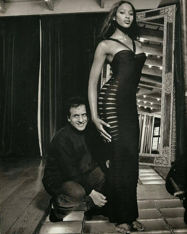 Circa 1996 – Azzedine Alaia & Naomi Campbell photographed by Jean Marie Perrier