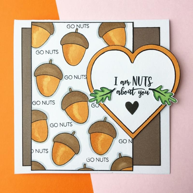 Materialer:  Gode nødder ,  smagen af chokolade ,  hjerte die fra Creative Expressions.