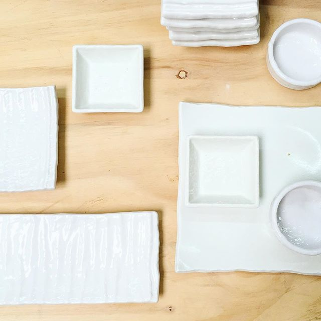 Plates shopping! Love those Japanese Plain white plates, making eating so enjoyable!