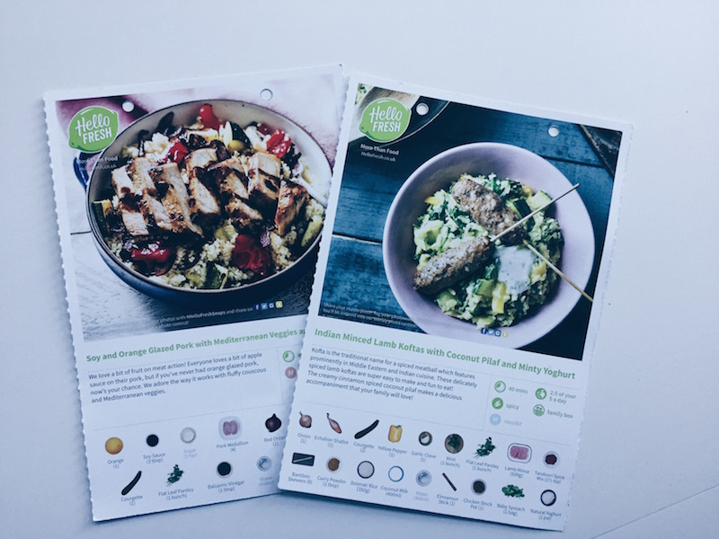 Hellofresh a family of four the london mother on the recipe card to help the kids feel involved we unpack the box of ingredients together and decide what meal we are going to have on which day forumfinder Image collections